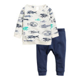 Kids Boys Clothing Sets 2 Pieces Toddler Cotton Long Sleeve T-Shirt & Pants 2-7t
