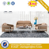 Solid Wood Leather Office Furniture Sofa (HX-S252)