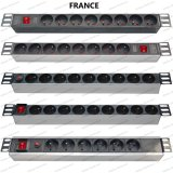 19 Inch France Type Universal Socket Network Cabinet and Rack PDU