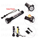Solar Multi-Function Safety Hammer LED Flashlight with Power Bank