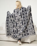 Geometrical Pattern Knitted Indian Style Native American Blanket