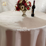Yiwu Cheap Light Champagne Polyester Fabric Rectangle Dining Tablecloth for Party