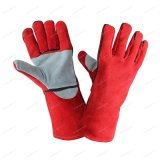 16 Red Welder Gloves with Palm Reinforced