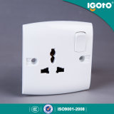 Igoto British Standard E16 New Design Electrical Multi 3 Pin Light Wall Socket