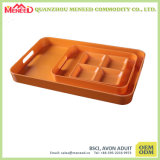 Disposable Like Resuable Melamine Compartment Food Tray