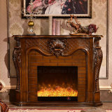 Ce Approved sculpture Home Furniture Antique LED Electric Fireplace (319B)