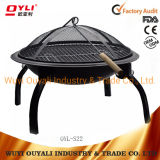 2019 New Design Garden Treasures Decorative Steel Winter Wood Burning Fire Pit Heating Pit Steel Furnace Fire Pit for Family