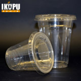 New Designed Plastic Clear Cups with Flat Lids