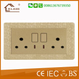 UK Type 220V-250V Double 15A Wall Switches and Sockets