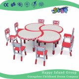 Quality Classroom Furniture Kids Furniture Kids Plastic Table Chair Set (HF-05002)
