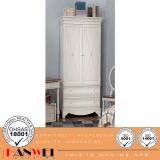Wooden Furnituer-White Wardrobe with Drawer