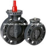 PVC DIN ANSI JIS Standard Butterfly Valve for Actuator Usage