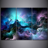 Printed Abstract Graphics Psychedelic Nebula Space Painting Canvas Print Decor Print Poster Picture Canvas Mc-046
