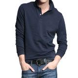 2016 Hot Sale Boy's Black Leisure Long Sleeve Polo Shirt