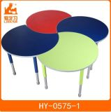 Colorful Kindergarten Furniture with Adjustable Wooden Kids Tables