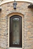 Square Top Ornament Wrought Iron Door