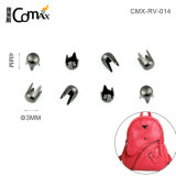 Bag/Garment Accessories Cheap Small Iron Metal Rivet Stud, Hot Sale Fashion 3mm Silver Metal Rivet for Bag