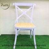 Popular Nice Iron Dining Stacking Wedding Cross Back Chair (HM-S14)