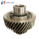 Steel Motor Transmission Helical Gear Shaft with Spline for Machinery Part