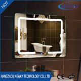 Sliver Makeup LED Bathroom Smart Mirror, Illuminated Beveled Wall Mirror, Dressing Glass Light Mirror