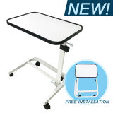 Free-Installation Overbed Table for Home or Hospital Bed