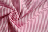 Pink/White Classical Stripe Plain Polyester Cotton Shirt Fabric