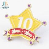 Free Sample Zinc Alloy Enamel Custom Star Safety Pin for Wholesale