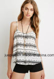 Strappy Detailing in The Back Crisscross Southwestern Print Cami Shirt