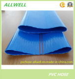 PVC Blue Flexible Fiber Braided Reinforced Layflat Hose Pipe