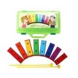 Hot Selling Colorful 8 Key Metallophone Glockenspiel Percussion Musical Instruments for Baby