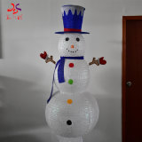 2020 Newest Products Iron Frame with Cloth Christmas Decorate 3D Structure Christmas Snowman