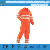 Orange Reflective Tape Anti Static Safety Uniforms Hi Vis Workwear