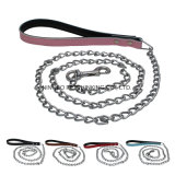 Leather Handle Chain Pet Lead, Leash Chain
