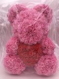 Wholesale Valentine Teddy Bear From Artificial Rose Flowers as Gift to Her