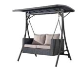 Leisurely Rattan 2-Seater Swing High Quality Garden Swing