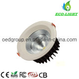 8 Inch 100lm/W 35W LED COB Downlight for Restaurant Meeting Room Lighting