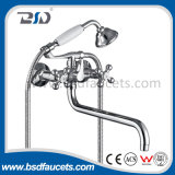 Telephnoe Handle Shower Free Standing Bath Faucet with Long Spout