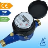 MID Certificated Multi Jet Dry Type Brass Water Meter