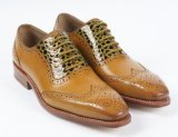 Colorful Genuine Leather Mens Business Flat Shoes (NX 427)
