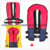 Waterproof Nylon Single Air Chamber Automatic Inflatable Life Jacket