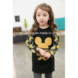 Girls′ Long Sleeve T-Shirt Children Clothes with Mickey Printed