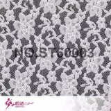 Elegant Chinese Rose Pattern Lace Fabric for Lady's Bra & Underwear Dress at Low Price