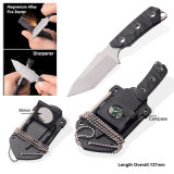 Stainless Steel Survival Fixed-Blade Knife Multi Knife with G10 Handle (#31086)