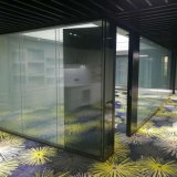 Shaneok Luxury Aluminum Frame Magic Glass Screen Office Partition