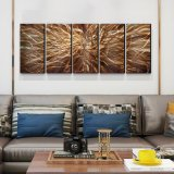 Abstract 3D Metal Oil Paintings Modern Interior Wall Arts Decor 100% Handmade
