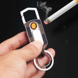 Coil Keychain Electric Lighter USB Rechargeable Cheap White Lighter