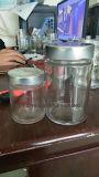 Molded Glass Jar Bottle