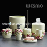 Floral Polyresin Bath Set (WBP0264A)
