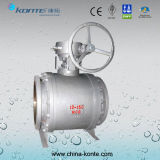Side Entry Pipeline Trunnion Ball Valve Gear Operated