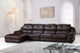 Modern Luxury Sofa Furniture Leather Living Room Corner Sofa (875)